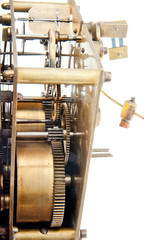 old clock pinion mechanism