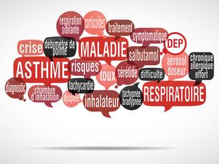 nuage de mots bulles : asthme