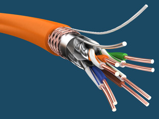 Cable SSTP cat6a (Twisted pair)