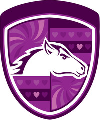Horse heart badge