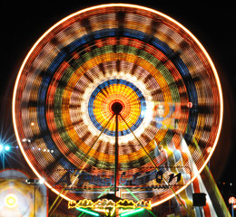 Attractions with night lights