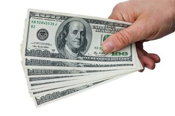 Man's hand keeps money