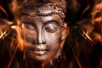 Fototapete - Statue de Bouddha