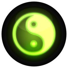 Button Yin Yang Grün