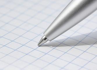 close up of pen at paper