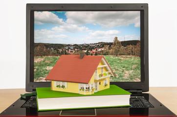 House on laptop