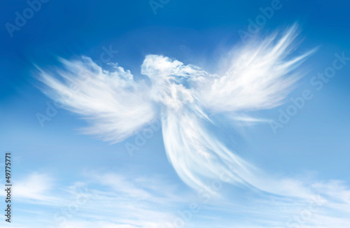 Wall mural Angel in the clouds
