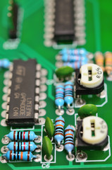 Detail of an electronic printed circuit board