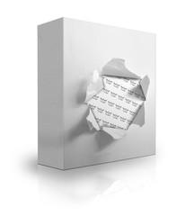 Caja sobre fondo blanco