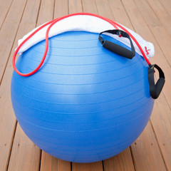 Exercise equipment for healthy lifestyle - fitness ball, expande