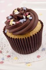 Cupcake mit Schokolade Buttercreme