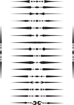 Deviders elements set