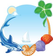 sea summer travel concept