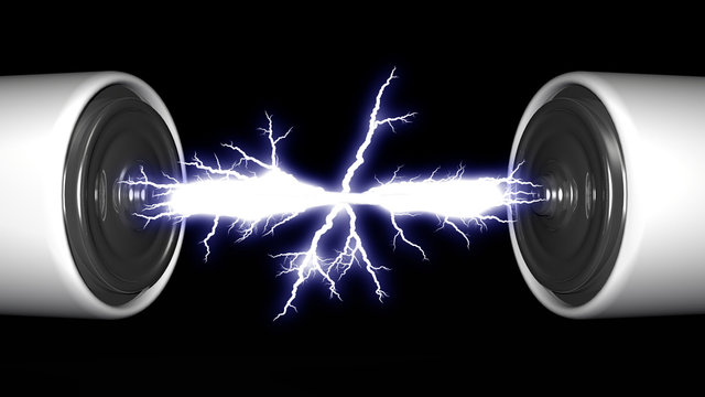 the batteries and electric arc