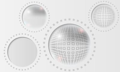 gray abstract circle