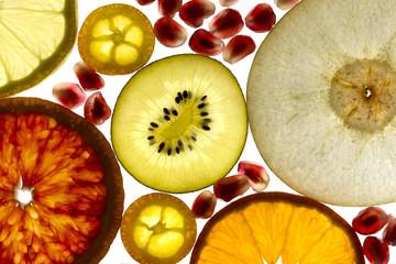 Tuinposter Plakjes fruit Fruchtscheiben
