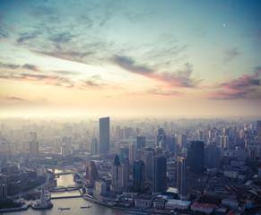 Aluminium Prints Shanghai shanghai at dusk