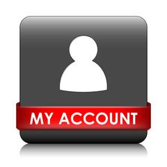 MY ACCOUNT Web Button (profile user login options settings)