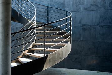 Foto op Plexiglas Trappen escalier en colimaçon