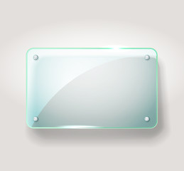 Glass advertising board. Template for a text
