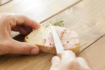 Bread with foie gras