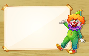 A clown showing the empty board