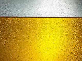 detail of beer in dewy glass