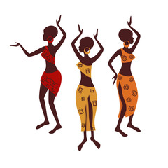 Beautiful ethnic women traditionally dancing.
