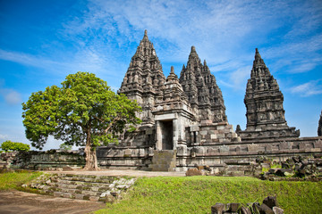 Fotobehang Indonesië Prambanan temple , Yogyakarta, Indonesia.