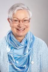 Closeup portrait of mature woman smiling
