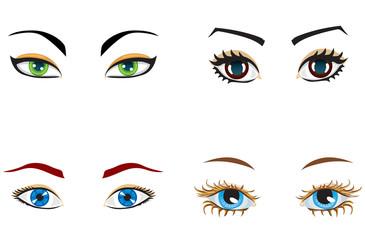 Women's eyes