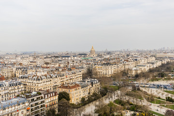 Paris panorama, France. View o from Eiffel Tower.