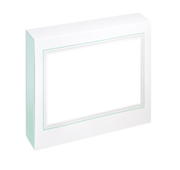 empty white gift box