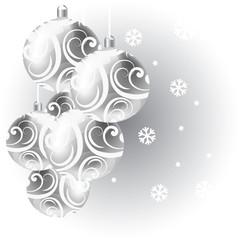 Vector Christmas card with Christmas balls