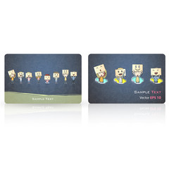 Kids with emotions inside a business card.