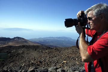 Fernsicht vom Teide auf La Palma, Hiero und Gomera