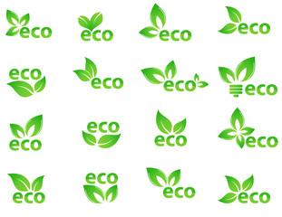 collection of vector eco logos