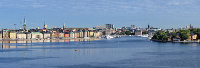 Panorama of Gamla Stan in Stockholm, Sweden