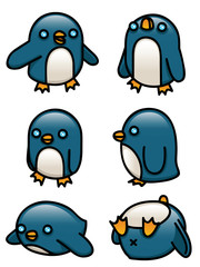 Cartoon Penguin Set