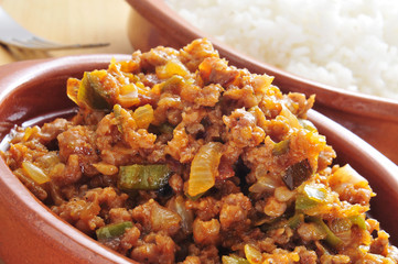 picadillo, traditional dish in many latin american countries