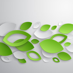 Wall Mural - Green leaves abstract background. Vector illustration.