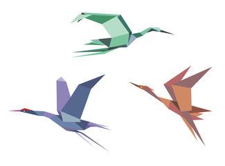 Herons, cranes and storks
