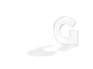 3D render of the text G
