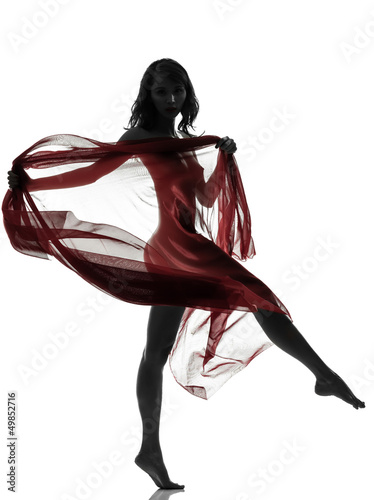 2d6891e91 beautiful asian woman naked behind red veil silhouette