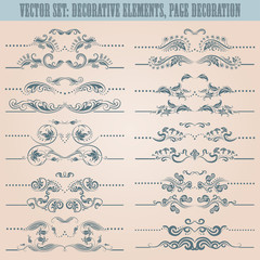 Vector set: floral decorative elements