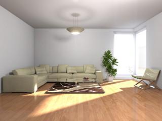 Wohnzimmer möbliert