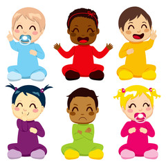 Multi-ethnic Baby Kids