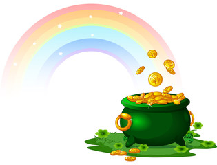 Canvas Prints Fairytale World Pot of Gold