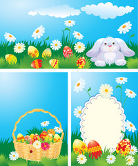 Set of color Easter banners.