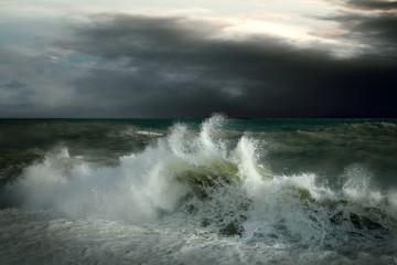 Foto op Plexiglas Onweer View of storm seascape